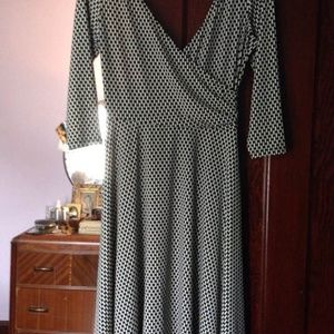 London times 10P stretchy faux wrap dress